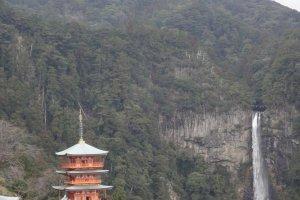 Pagoda and Waterfall