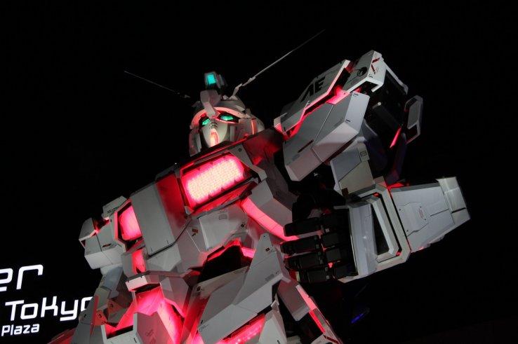 Unicorn Gundam Statue in Odaiba - Odaiba, Tokyo - Japan Travel