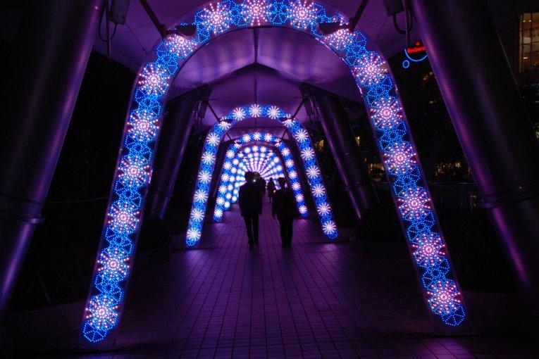 งานประดับไฟฤดูหนาวที่ Tokyo Dome City