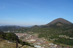 The castle town and Mt. Aono