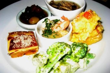 Great Tapas Style tasting plate at the Volta Bar and Bistro in Osaka
