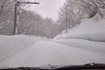 The road to the onsen