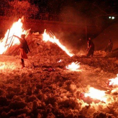 เทศกาลไฟและหิมะ Kakunodate