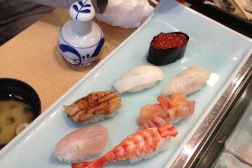 'Fuji' set: 9 pieces of selected nigirizushi
