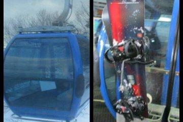 Gondola and ski equipment
