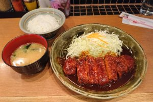 Misokatsu set meal