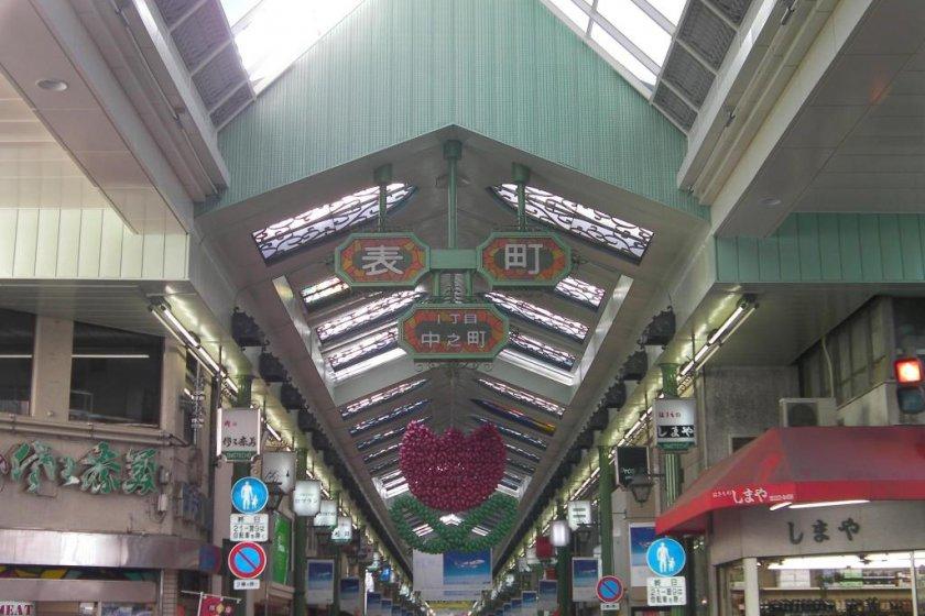 Omotecho arcade in Okayama City