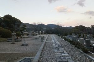View from the older temple on the graveyard