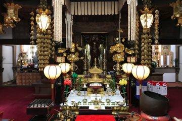 Joryu-ji Temple's interior