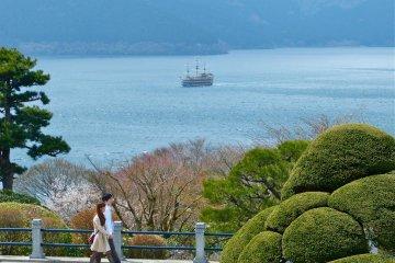 Onshi Hakone Park in Spring