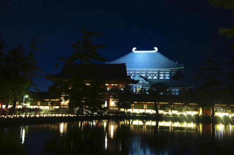 Summertime illumination at Todaiji