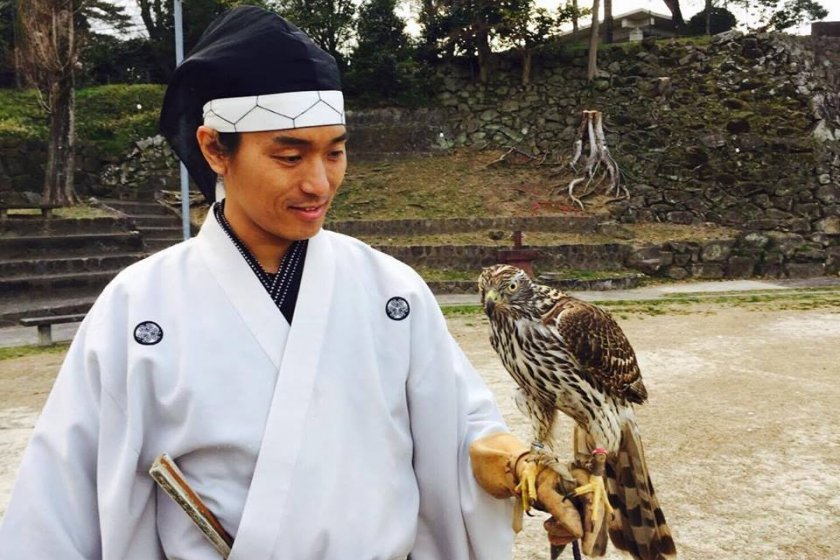 Ieyasu promoted the art of falconry