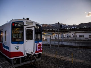 The Sanriku Railway train terminates at Kamaishi, a historic, steel producing city