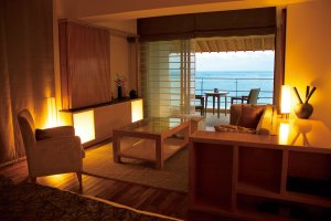 Decoration and  furniture featuring iconic Japanese elements from Okinawa and the mainland Japan