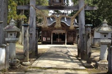 The shrine where Musashi is said to have created his two sword style