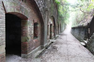 Play hide and seek in an abandoned fort on the Tomogashima Islands