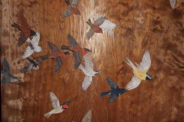 Fine paintings on wooden doors
