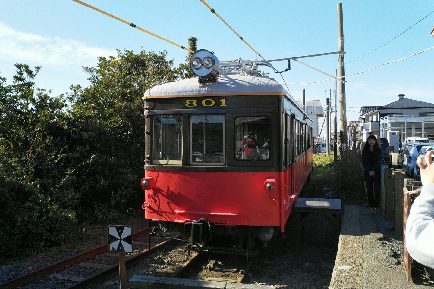 An old railcar used as a presentation room