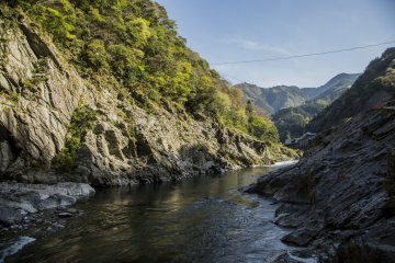 The Oboke Gorge in Iya Valley is full of grandeur and a short boat cruise through the gorge brings magical views like this