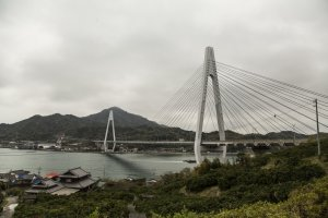 Cycling towards Ikuchi Bridge