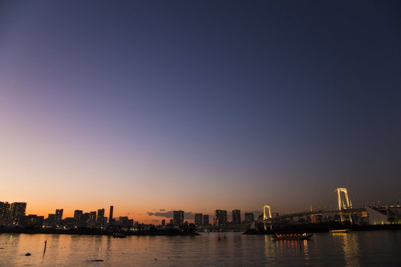 Odaiba's Tokyo Bay view offers the best metropolis view in my opinion