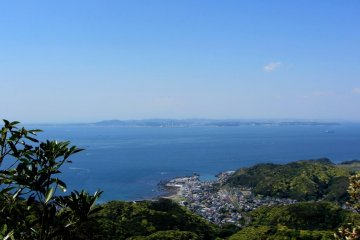 From the top, you can see across the bay towards Kanagawa