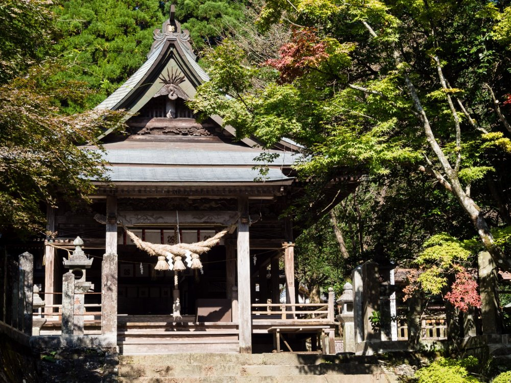 This less-visited shrine sits in the woods inside the Aso caldera
