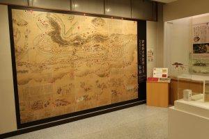 Tấm bản đồ thành Tsuwano từ cuối thời Edo (1868)
