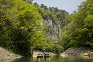 A serene boat ride along Geibikei Gorge helps to relax the mind