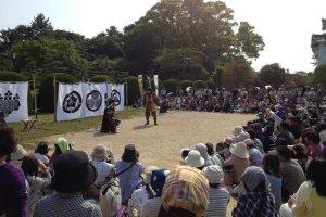 The Nagoya Castle samurai performance team