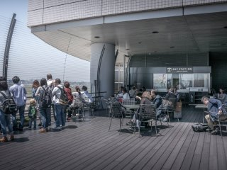Situated on the top floor of Terminal One are some of several observation decks that you can find within this airport