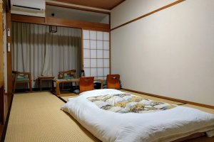 I think this is room is 6 or 8 tatami—I had a cheaper option where you don't choose you room, the hotel assigns it to you