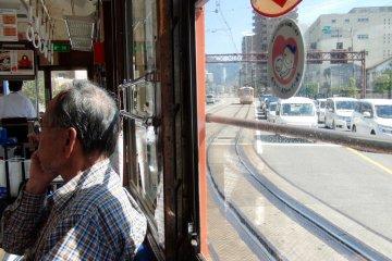 Riding a 1950s tram