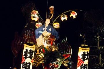 Float number 3, The Turtle and Urashima Taro (folk tale characters)