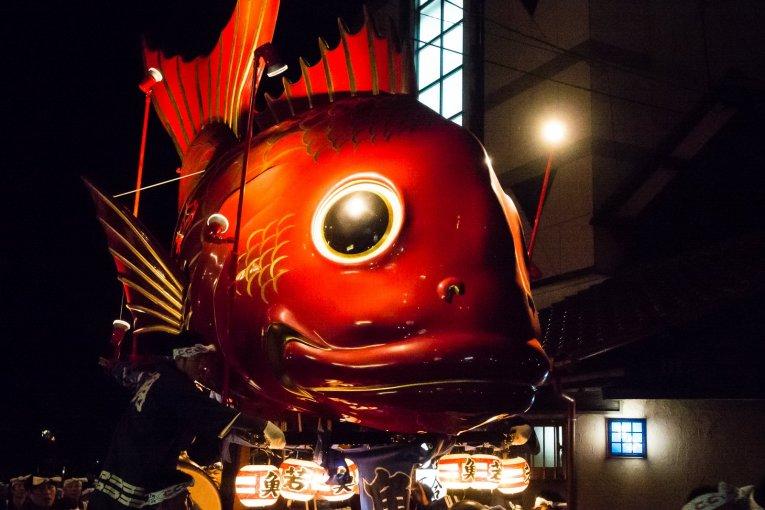 Karatsu Kunchi Nighttime Parade