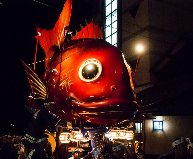The Sea Bream, my favorite of all floats, known here as hikiyama