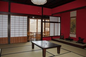 One of the rooms inside Minshuku Yougetsu (not the front room as I described)
