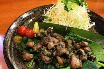 Flame grilled Kawachi duck, Matsubara city's speciality