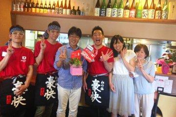 Friendly staff at Naniwa Tomoare