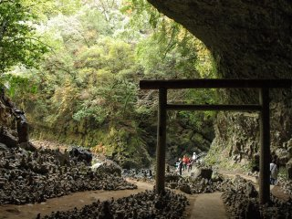 Amano Yasukawara Cave at Amano Iwato Shrine