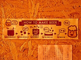 Little sticker explaining how the beer you are drinking is made.