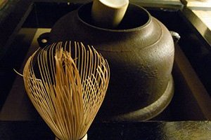 Tea kettle and whisk