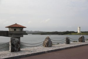 Uruma City's Kurashiki Dam supplies much of sourthern Okinawa with water and serves as a recreational area for residents