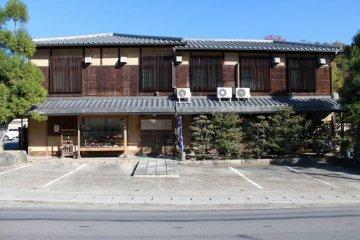 <p>Front entrance to Ryokan Yamazaki</p>