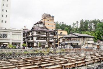 Main place of Kusatsu onsen