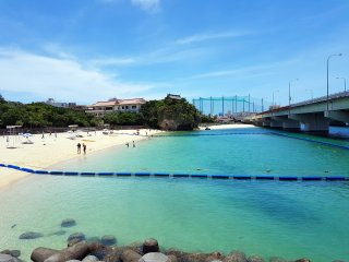 Naminoue Beach is perfect for swimming