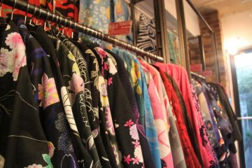 Yukatas in Chicago Thrift Store. It's quite mind-boggling to see that much clothing displayed in the 2-storey shop.
