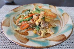 The goya in goya champuru contains large amounts of vitamin C