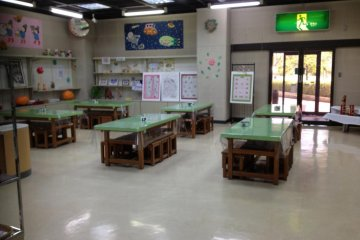 The clay room in the activity zone