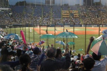 Swallows Game - Meiji Jingu Stadium
